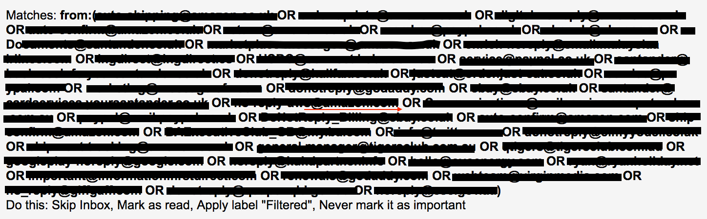 Gmail Filtered Filter